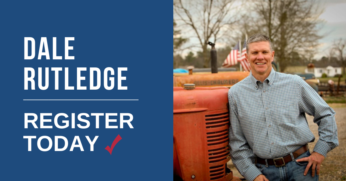 Vote Dale Rutledge in the November Election!