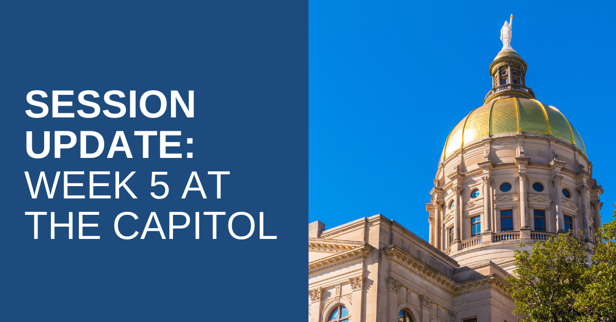 2019 Legislative Session – Week 5