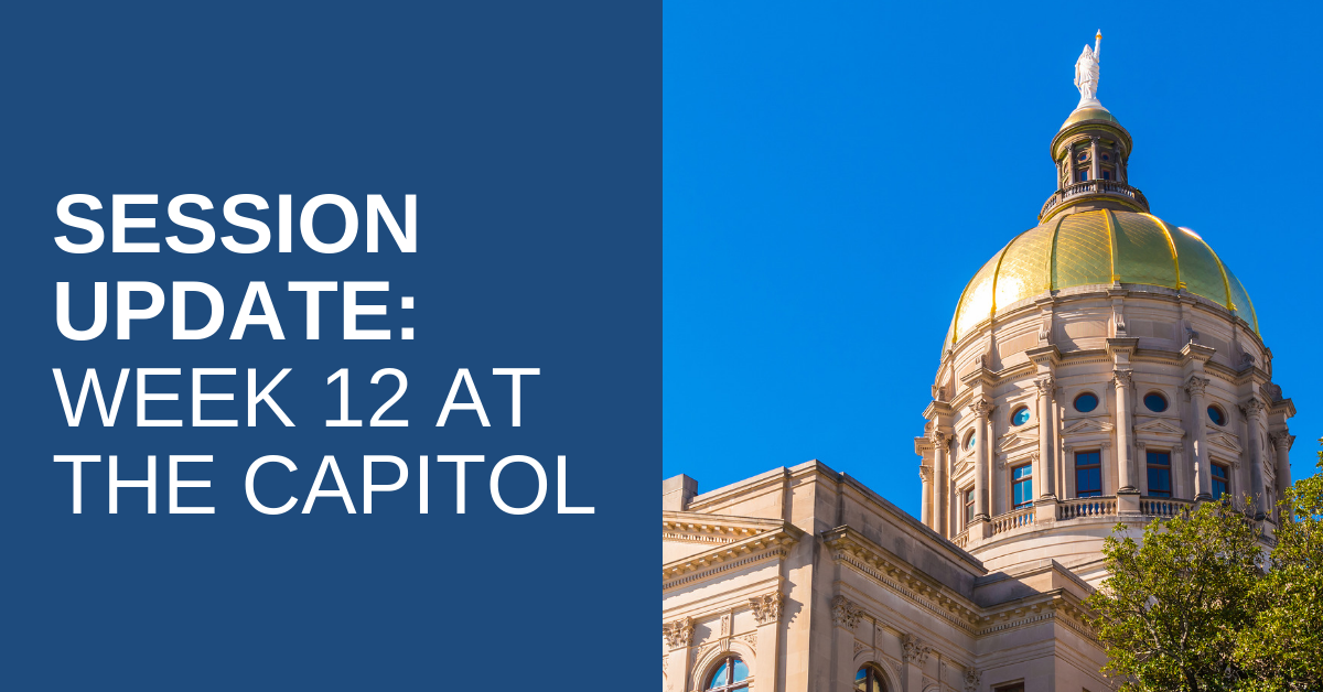 2019 Legislative Session – Week 12